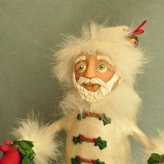 Polymer Clay Santa Art Doll by APieceofLisa on Etsy