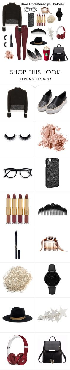 """""""Untitled #612"""" by gracelovesanimals ❤ liked on Polyvore featuring Topshop, Bobbi Brown Cosmetics, Victoria's Secret, tarte, Anna Sui, Stila, CLUSE, Janessa Leone and Beats by Dr. Dre"""