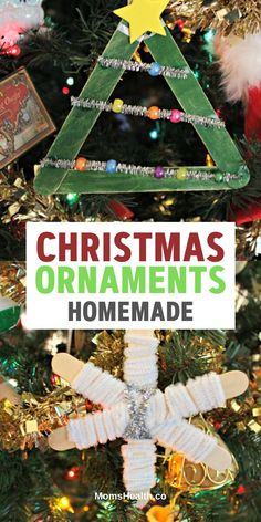 Christmas Ornaments Homemade Ideas - 15 Best DIY Crafts for Kids to Make. Get inspired with these Christmas ornaments to craft with your children. Disney Ornaments, Christmas Ornaments To Make, Felt Christmas, Christmas Tree Decorations, Christmas Bulbs, Christmas Crafts, Christmas Ideas, Crafts For Kids To Make, Diy Wreath