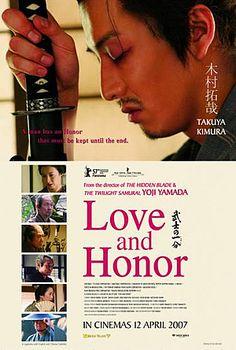 """Yoji Yamada's Samurai Trilogy. """"Twilight Samurai"""" (2002), """"The Hidden Blade,"""" (2004) and """"Love and Honor"""" (2006).Wikipedia"""