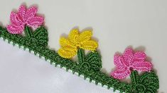 Bead Crochet, Crochet Doilies, Crochet Flowers, Crochet Lace, Baby Knitting Patterns, Crochet Patterns, Creative Embroidery, Hand Embroidery, Saree Kuchu Designs