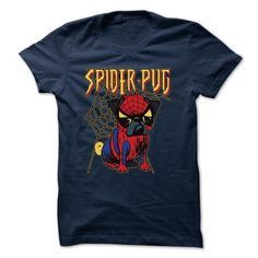 Spiderpug - #gift for friends #gift card. GET YOURS  => https://www.sunfrog.com/Pets/Spiderpug.html?id=60505