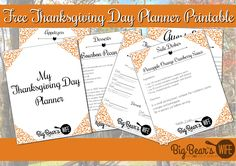 Who's getting ready for Thanksgiving? I wanted to make a little something for y'all this year for Thanksgiving!I t's just a little something from me to you to day THANK YOU for being awesome! - Free Thanksgiving Day Planner Printable