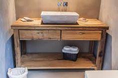Afbeeldingsresultaat voor badkamer wastafel houten plank