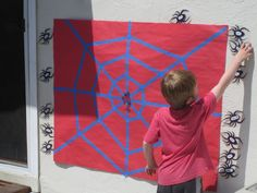 Super Ideas For Spiderman Birthday Party Games Children Spider Man Party, Fête Spider Man, Spider Webs, Spiderman Spider, Avengers Birthday, Superhero Birthday Party, Birthday Party Games, 6th Birthday Parties, Spiderman Birthday Ideas