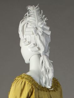 Blog post on Paper Wigs for the Fashion Timeline by Kent State University Museum