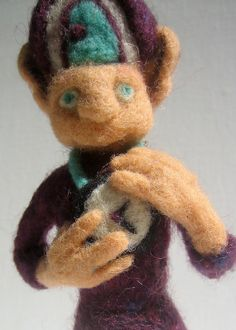Needle felted fantasy figure