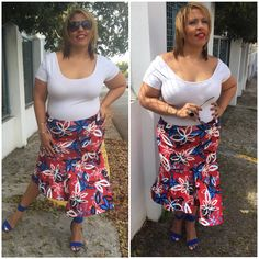 #plussize #ootd #skirt Plus Size Fashion, Ootd, Floral, Skirts, Plus Size Clothing, Flowers, Skirt, Plus Sizes Fashion