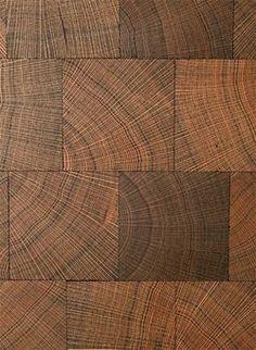 Block end grain wood flooring