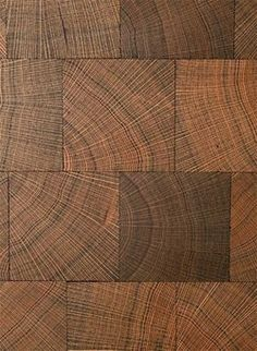 Block end grain wood flooring