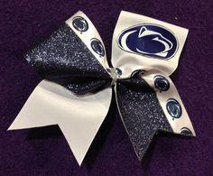Penn State Cheer Bow by SpotlightCheerBows on Etsy, $12.00