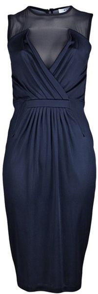 Givenchy Moon Blue drape dress