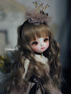 piyo | by abenohiya crown, princess, doll bjd, long hair