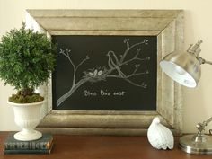 Chalk it Up - foil decoupage