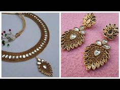 (DIY) HOW TO MAKE PARTY WEAR EARRINGS//HANDMADE JEWELLERY//HOORIYA STYLE - YouTube