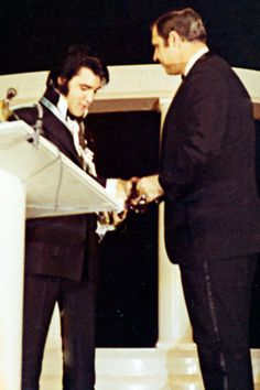 January 16, 1971  Elvis attends a day of functions culminating in an evening awards banquet. He and nine others accept the honor of being named One of the Ten Outstanding Young Men of the Nation by the United States Junior Chamber of Commerce (The Jaycees). He is nervous about his acceptance speech. He is touched, excited and deeply proud.
