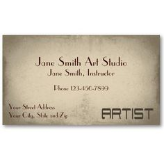 Splash of Red Abstract Art Studio Business Card | Abstract art ...