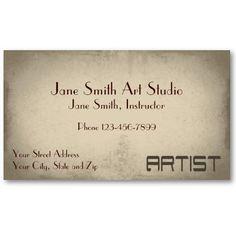 fine artist business cards