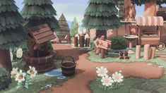 Motif Acnl, Lost In The Woods, Irish Cottage, Animal Crossing Game, Bird Cages, New Leaf, My Animal, Inspiration, Garden Entrance