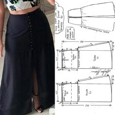 Выкройки, шитье, моделирование одежды Skirt Patterns Sewing, Clothing Patterns, Fashion Sewing, Diy Fashion, Diy Clothes Design, Costura Fashion, Stylish Sarees, Latest Outfits, Pants Pattern