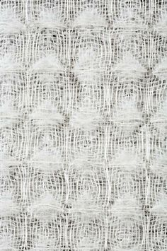 linen mohair waffle with woven white textures & structured pattern; textiles design // Kate Glusica