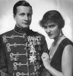 Archduke Joseph Franz of Austria (1895- 1957)  and his wife Princess Anna Monika of Saxony (1903–1976).
