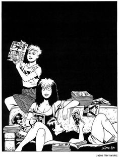 Love and Rockets pin-up by Jaime Hernandez, 1984