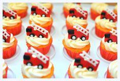 Firetruck Cupcakes!