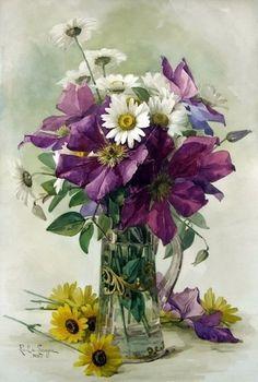 Цветочные композиции Paul de Longpre