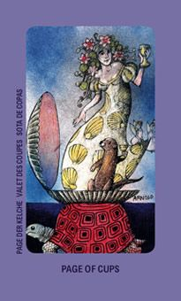 February 10 Tarot Card: Page of Cups (Jolanda deck) Let your spirit loose and embrace magic, fresh feelings, and new inspirations now