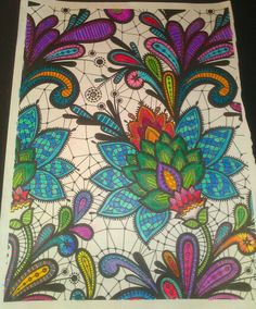 Finished, Posh coloring book pages, color, inspiration, love doodles