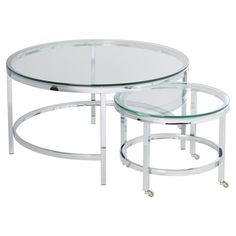 Joel Coffee Table with Nested Stools Round Glass Coffee Table, Coffee And End Tables, Rustic Coffee Tables, Chicago Coffee Shops, Contemporary Coffee Table, Nesting Tables, All Modern, Modern Living, Living Room Decor
