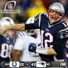 The New England Patriots are heading to the AFC Championship game! #INDvsNE