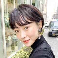 Pin on ショートカット Girl Short Hair, Short Hair Cuts, Short Hair Styles, Pretty Hairstyles, Girl Hairstyles, Hair Inspo, Hair Inspiration, Salon Style, Japanese Beauty