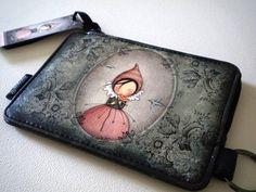 Mademoiselle Snow Santoro Neoprene Zipped Lunch Bag Willow NEW