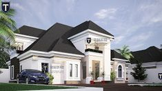 If you love spaciousness and modern living, here is a contemporary 5 bedroom plan that an established family will find a. Family House Plans, Dream House Plans, Bungalow House Design, Modern House Design, Precast Concrete, Concrete Walls, House Viewing, Architectural Design House Plans, How To Plan
