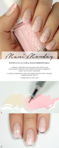 Mani Monday: Pink Watercolor Nail Tutorial at LuLus.com!
