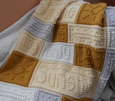 "This crocheted blanket is an original blanket design that is easy to complete. The blanket when finished reads, ""you are my sunshine my only sunshine."""