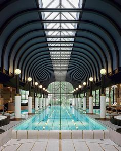 hotel The Belle Epoque-style pool inside the spa of the Victoria-Jungfrau Grand Hotel amp; Spa in Interlaken, Switzerland. S Spa, Pool Spa, Spa Swimming Pool, Indoor Pools, Luxury Swimming Pools, Swimming Pool Designs, Dream Pools, Spa Design, Design Hotel
