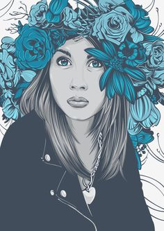 Eyes and flowers on Behance