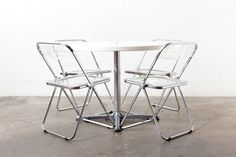 Castelli Folding Side Table and Chairs