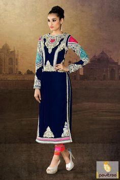 Pink cobalt blue Anarkali Salwar Suit is made elegant in resham, patch, lace patti and embroidery works. It is stitched in chiffon, velvet fabrics. #anarkalisalwarsuits #anarkalisuits #anarkalidresses #anarkalisalwarkameez #bridalanarkali #longanarkalisuits