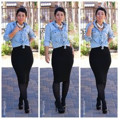 Creating DIY Fashion Trends – Designer Fashion Tips Look Fashion, Diy Fashion, Autumn Fashion, Fashion Outfits, Womens Fashion, Fashion Trends, Fashion Sewing, Skirt Fashion, Office Fashion