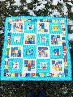 Dr. Seuss Baby Quilt by TheSwankyBlankie on Etsy