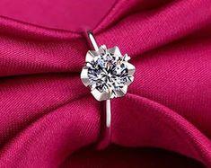 Elegant Affordable Custom Moissanite by SolitaireRingJeweler Moissanite Diamond Rings, Solitaire Ring, Bridal Rings, Wedding Rings, Wedding Band, One Ring, Antique Rings, Anniversary Rings, White Gold Rings