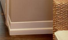 Mdf contemporary baseboard rona 1 2 x5 for Art deco baseboard molding