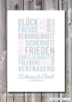 Gastgeschenke - Druck/Print: Gute Wünsche (Hochzeit/Verlobung/Ehe) - ein Designerstück von DiePersoenlicheNote bei DaWanda
