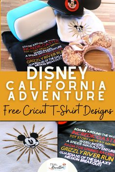 Love Disney California Adventure theme park? These beginner-friendly designs are perfect for Disneyland theme park travel or just representing DCA at home. Recreate these iron-on Cricut projects with step by step instructions and lots of photos to assist you while you craft! Free project files to recreate both of these Disney California inspired t-shirt designs. #Disneyland #DisneyCalifornia #California Adventure #DCA #DisneyShirt #Cricut #CricutProject #IronOn Disney Tips, Disney Fun, Disney Style, Disney Parks, Walt Disney, Disney Hotels, Disney Travel, Disney Vacations, Disney Planner