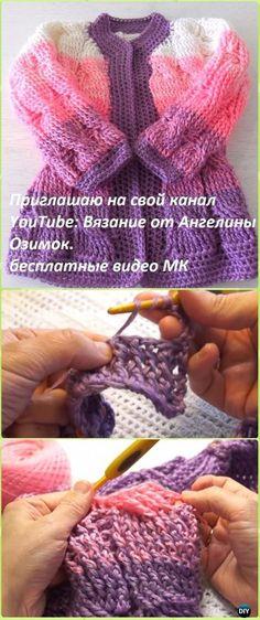 Crochet Kids Sweater Coat Free