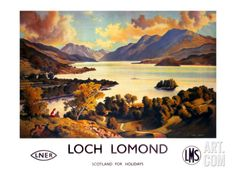 Loch Lomond, LNER and LMS Poster, circa 1940s Giclee Print at Art.com